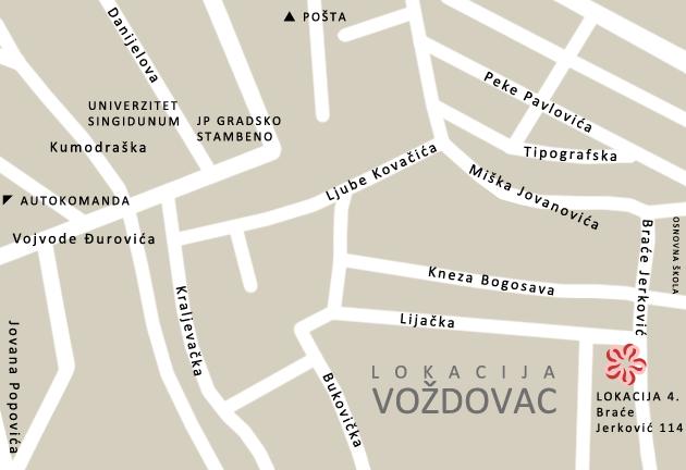 mapa beograda brace jerkovic Kontakt i lokacija škole stranih jezika Conlingua Plus   Beograd mapa beograda brace jerkovic